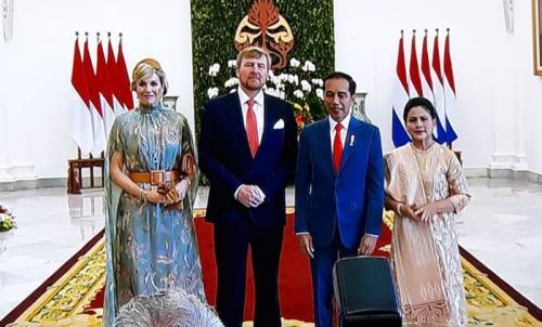 Raja dan Ratu Belanda di Istana Bogor