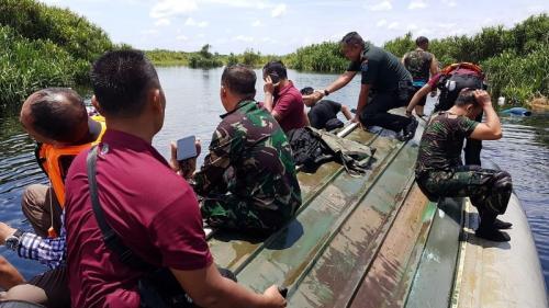 Kecelakaan speedboat di Palangkaraya, Kalteng. (Foto: Sigit Dzakwan/Okezone)
