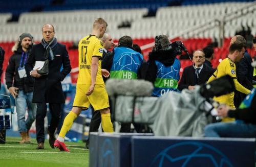 Aksi Haaland saat membela Dortmund