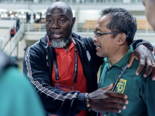 Aji Santoso bersama Jacksen Tiago