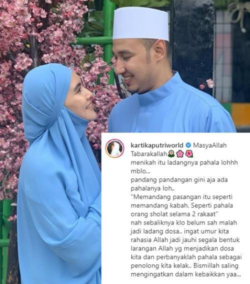 Kartika Putri berbicara tentang pahala menikah. (Foto: Instagram/@kartikaputriworld)