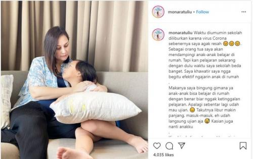Mona Ratuliu curhat di instagram