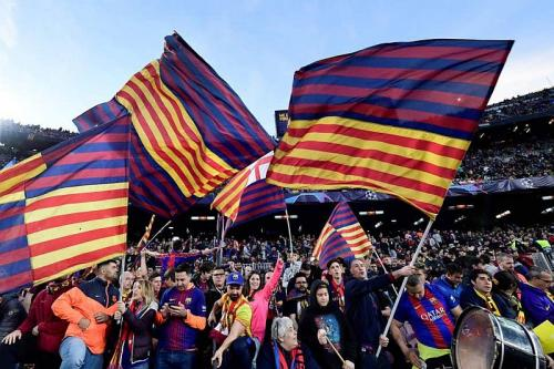 Fans Barcelona (Foto: Istimewa)