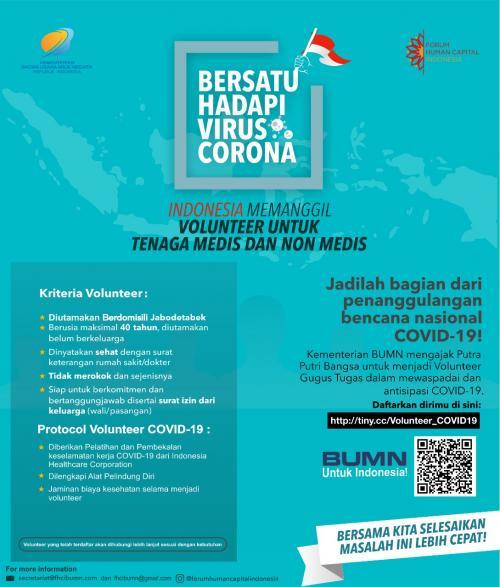 Volunter Virus Corona