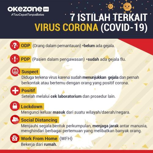 Infografis istilah virus Corona