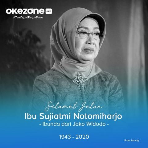 Ibunda Presiden Jokowi meninggal. (Foto: Setneg/Okezone)