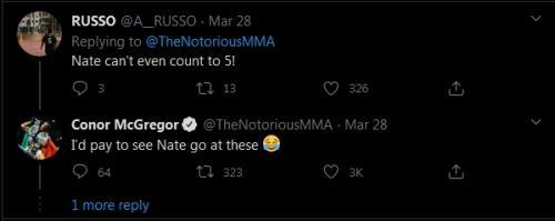 Conor McGregor Ledek Nate Diaz (Foto: Twitter/@TheNotoriousMMA)