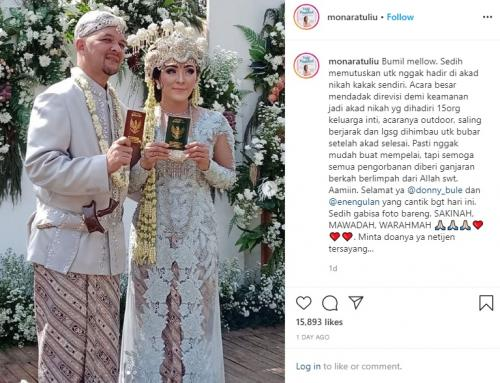 Pernikahan kakak kandung Mona Ratuliu. (Foto: Instagram/@monaratuliu)