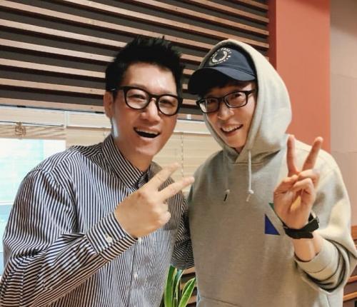 Ji Suk Jin dan Yoo Jae Suk. (Foto: Instagram/@jeeseokjin)