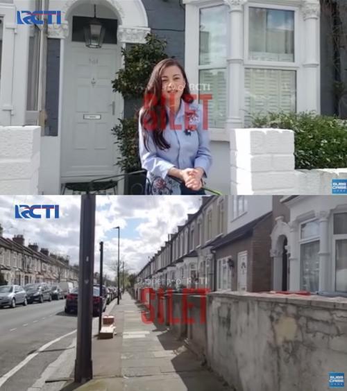 Angie Virgin bagikan suasana lockdown di London, Inggris. (Foto: SILET-RCTI)