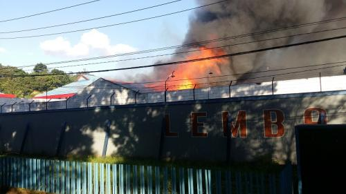 Lapas Kelas II A Tuminting Manado terbakar. (Foto : Okezone.com/Subhan S)