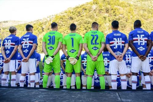 Skuad Sampdoria untuk musim 2019-2020 (Foto: Sampdoria)