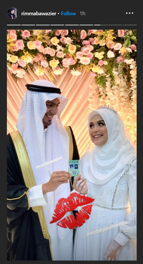 Pernikahan Razi Bawazier dan Vebby Palwinta