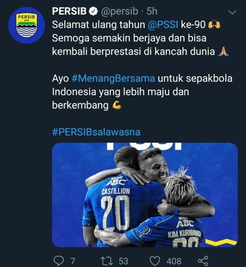 Persib Bandung (Foto: Twitter / @ persib)
