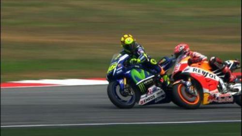 Valentino Rossi dan Marc Marquez