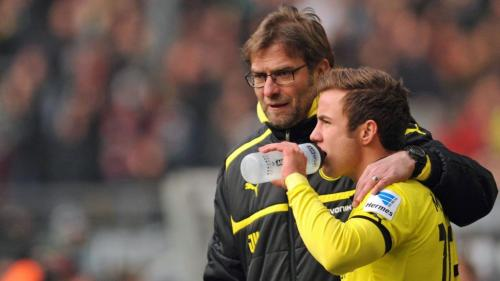 Klopp bersama Gotze di Dortmund