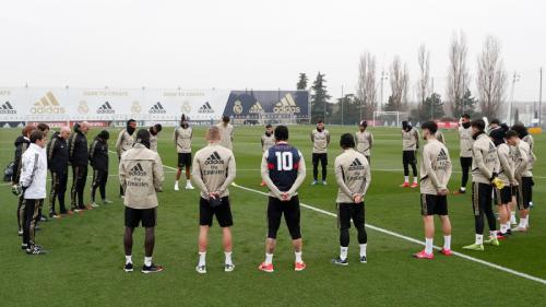 Sesi latihan para pemain Real Madrid