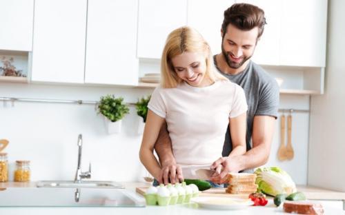 Ilustrasi memasak dengan pasangan