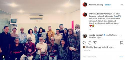 Marcella Zalianty bersama Adi Kurdi