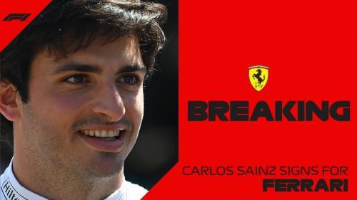 Carlos Sainz Jr dikontrak dua tahun bersama Ferrari (Foto: Twitter/@F1)