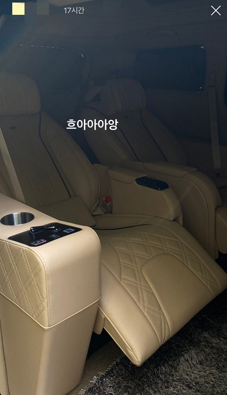 Van BTS yang dipamerkan kekasih manajer grup tersebut.