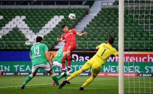 Kai Havertz mencetak gol pertama Bayer Leverkusen (Foto: Twitter/@OptaFranz)