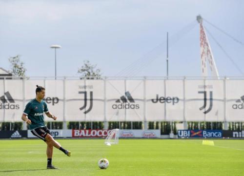 Cristiano Ronaldo berlatih di Continassa (Foto: Juventus)