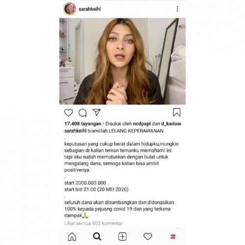 Sarah Salsabila Keihl. (Foto: Instagram)