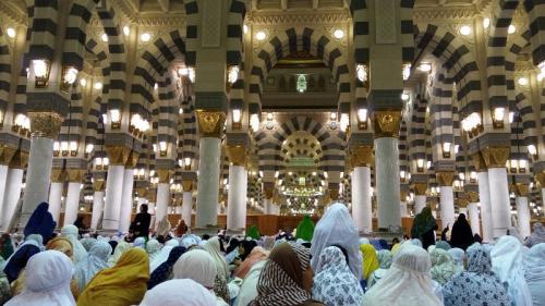 Ceramah di Masjid Nabawi. (Foto: Okezone)