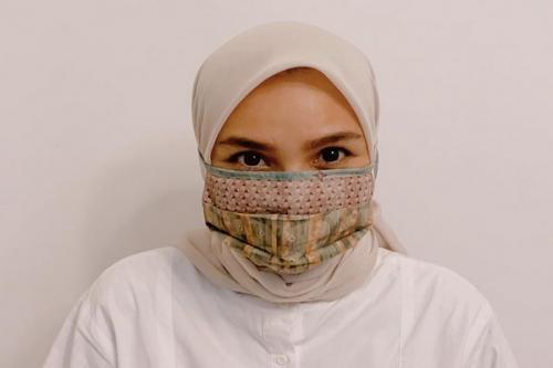 Ria Miranda hijab masker