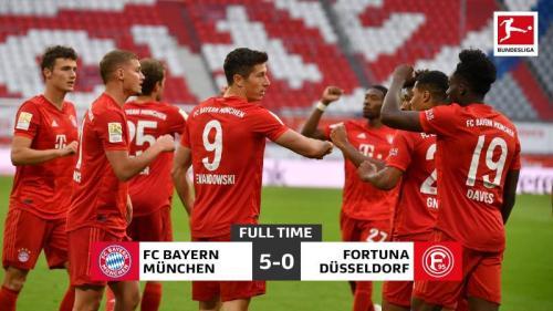 Bayern Munich menang telak 5-0 atas Fortuna Dusseldorf