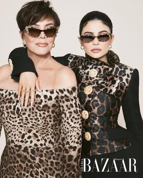 Kylie dan Kriss Jenner. (Foto: Harper's Bazaar)