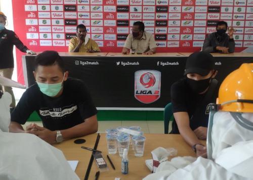 Pemain PSMS Medan menjalani rapid test (Foto: Twitter/@PSMSMDNOFFICIAL)