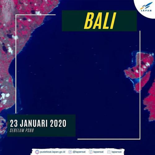 Satelit LAPAN Pantau Sepinya Perairan Bali saat PSBB