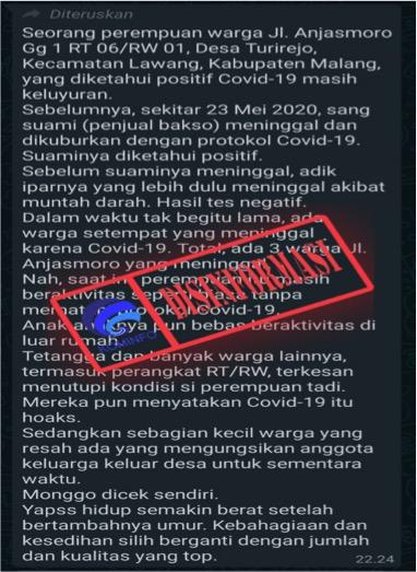Kementerian Komunikasi dan Informatika (Kominfo) Republik Indonesia kembali mendeteksi berita bohong (hoaks).