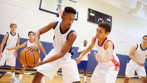 Ilustrasi permainan basket