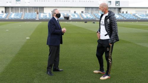 Florentino Perez dan Zinedine Zidane