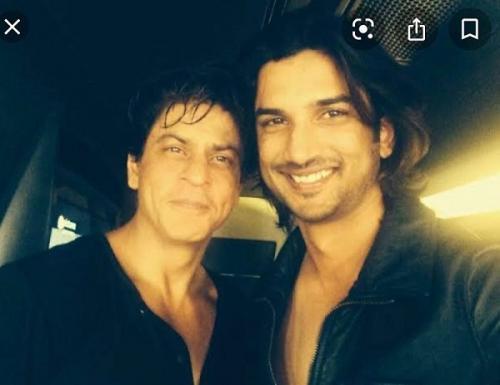 Shah Rukh Khan dan mendiang Sushant Singh Rajput.