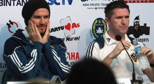 David Beckham usai pertandingan melawan Timnas Indonesia Selection. (Foto: Okezone.com)