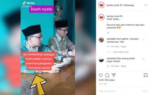 Tangkapan layar Instagram/@lambe_turah
