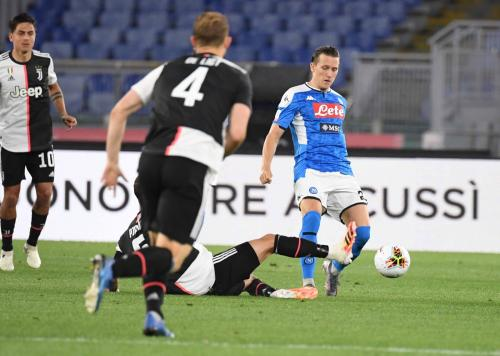 Suasana laga Napoli vs Juventus