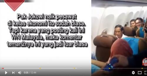 Jokowi naik pesawat