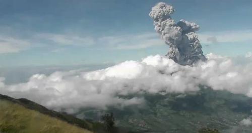 Gunung Merapi erupsi. (Twitter/@BPPTKG)