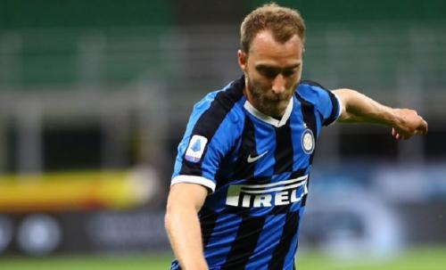 Menit bermain Christian Eriksen di Inter Milan minim