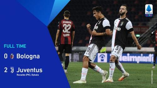 Suasana laga Bologna vs Juventus