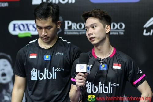 Aksi Kevin/Reza di Home Tournament