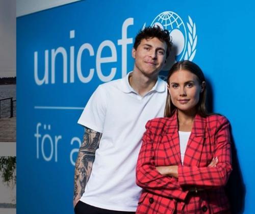 Victor Lindelof dan Maja Nilsson