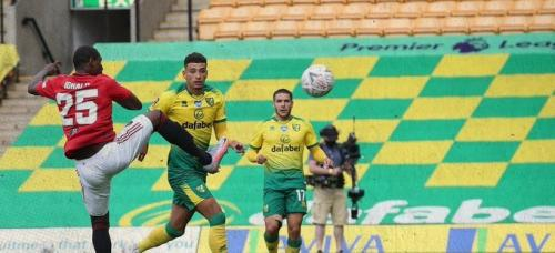Odion Ighalo vs Norwich (Foto: Twitter/@ManUtd)