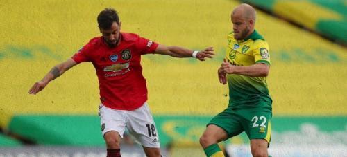 Bruno Fernandes vs Norwich (Foto: Twitter/@ManUtd)
