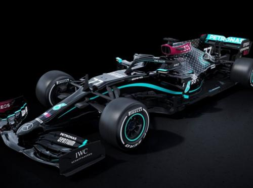 Mercedes W11 bernuansa hitam (Foto: Mercedes AMG Petronas)